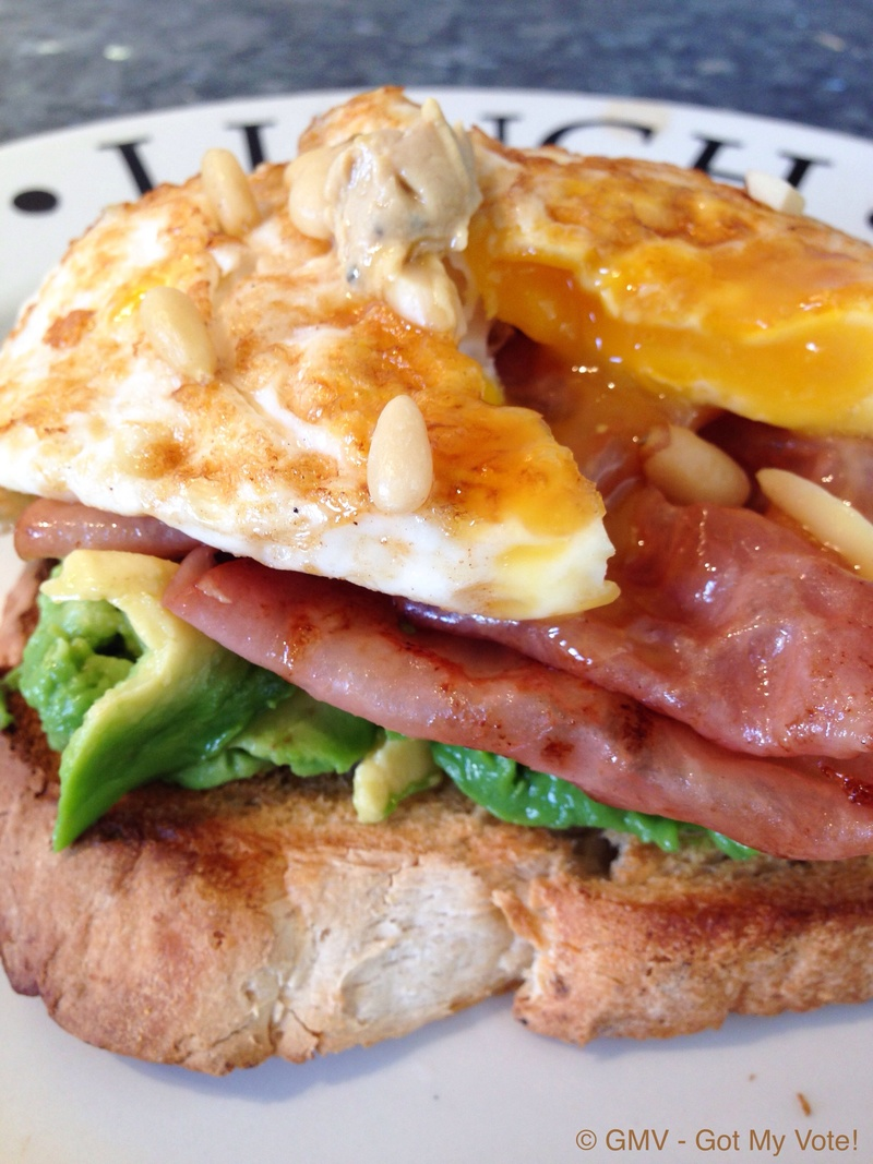 Weekend Brunch: Open Truffle Egg Sandwich