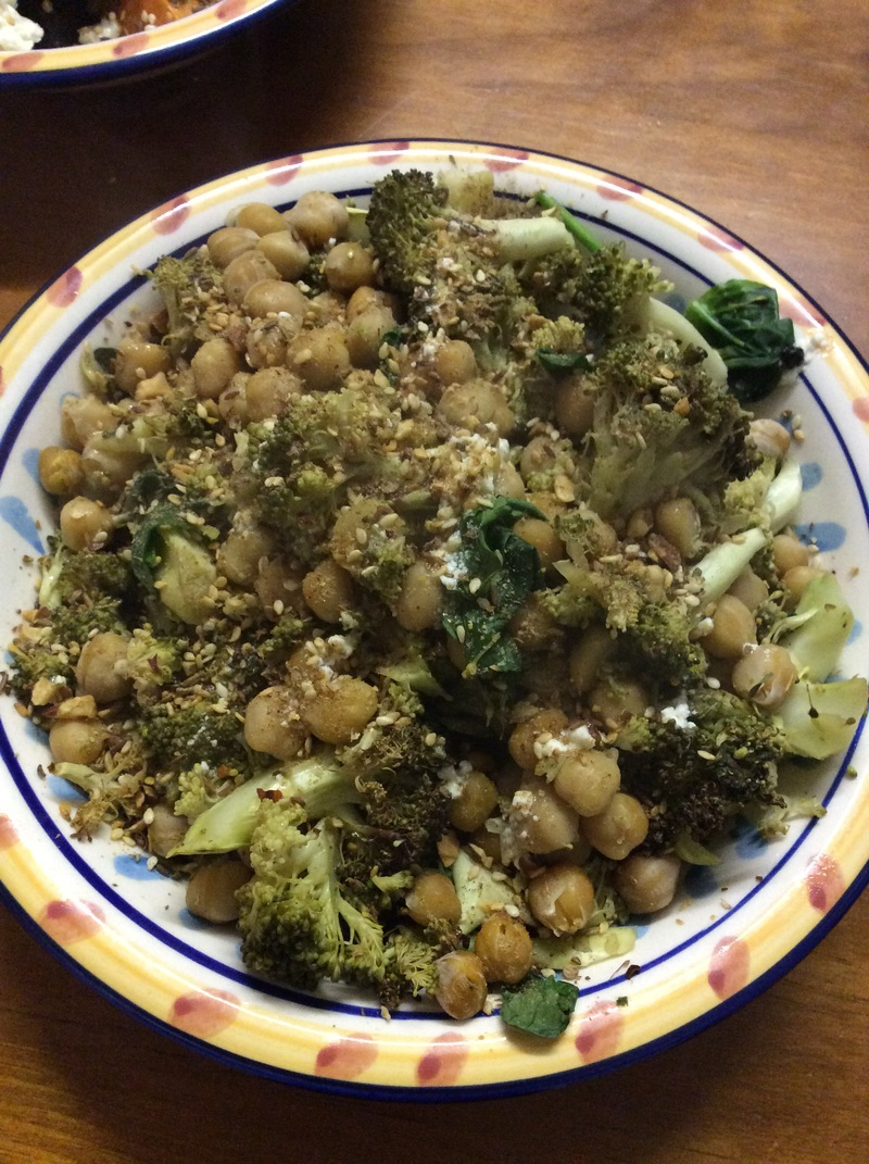 Broccoli, Basil And Chickpea Tapas