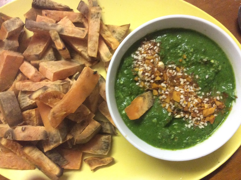 Rocket, Spinach and Cashew Dip