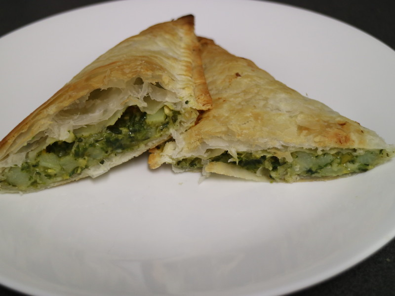 Spinach and Corn Pasties