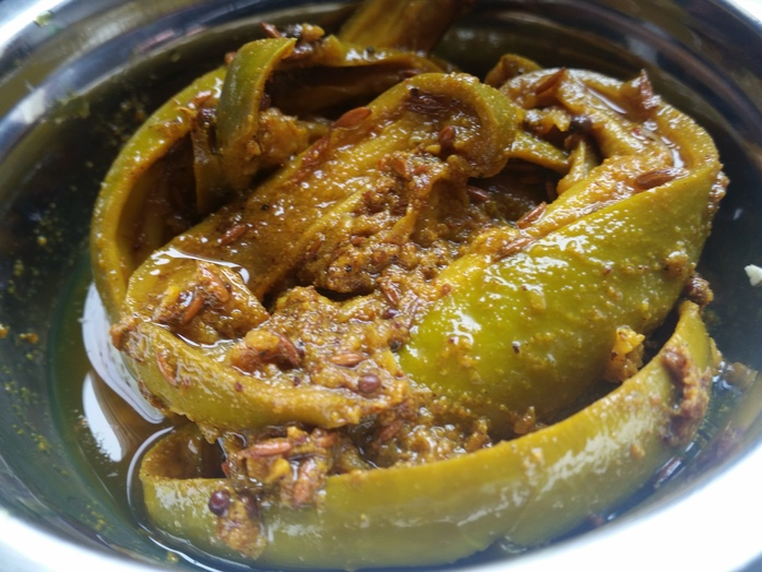 Indian green mango pickle