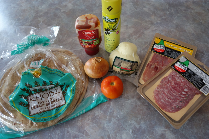 Ingredients  - Salami & Proscuitto Pizza