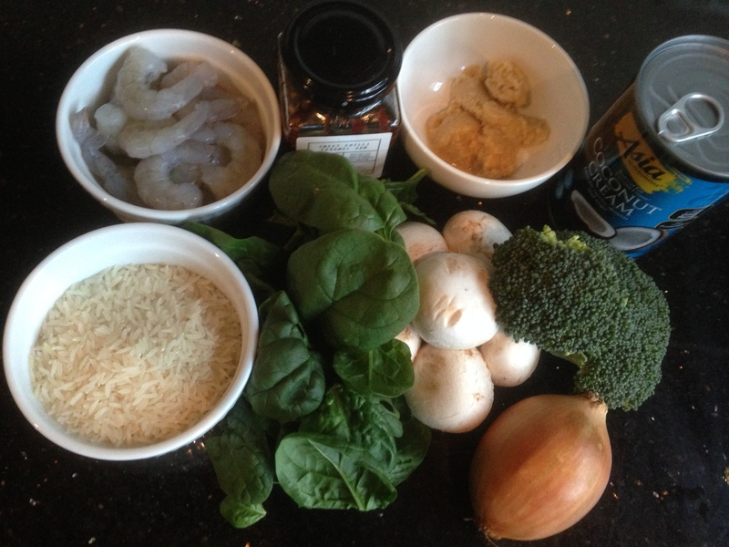 Ingredients  - Thai Chilli Jam Prawns With Coconut Rice Soup