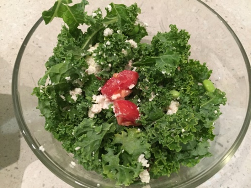 kale,salad,with,tomato,and,feta  - Chicken Rice Casserole