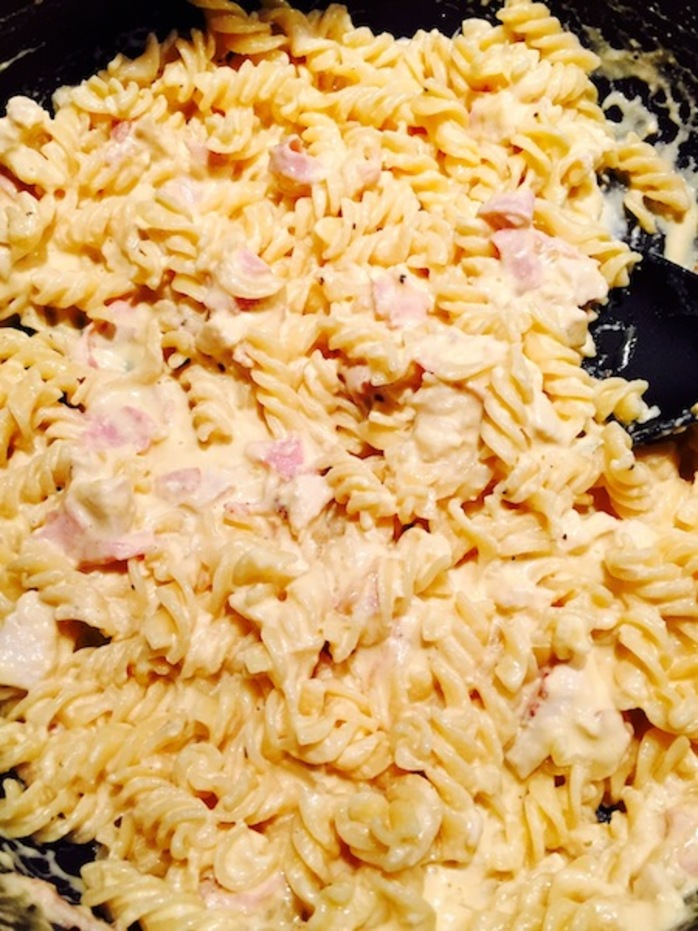 Lactose Free Chicken Carbonara delicious and easy