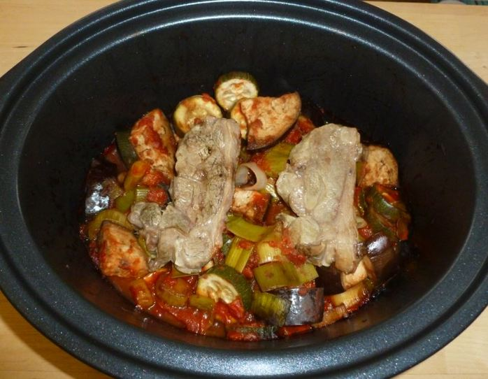 lamb chops ratatouille slow cooker