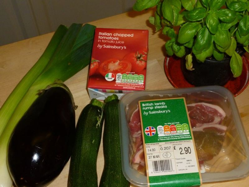 Lamb chops vegetables home cooking slow cooker family food  - Lamb Chops and Ratatouille