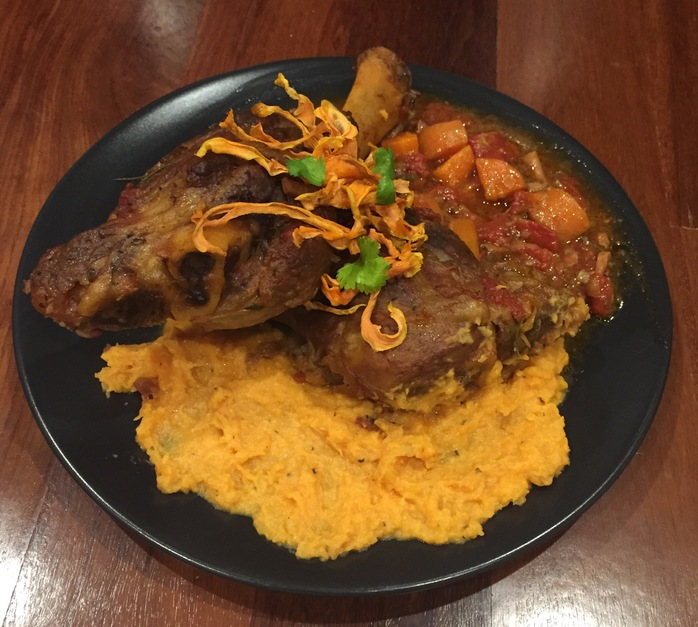 Lamb Shanks With Bacon, Leek And Sweet Potato