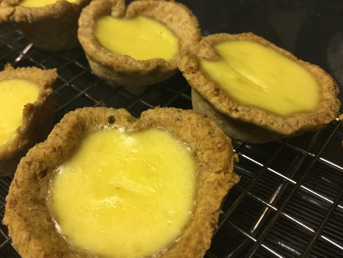Lemon and lime tarts