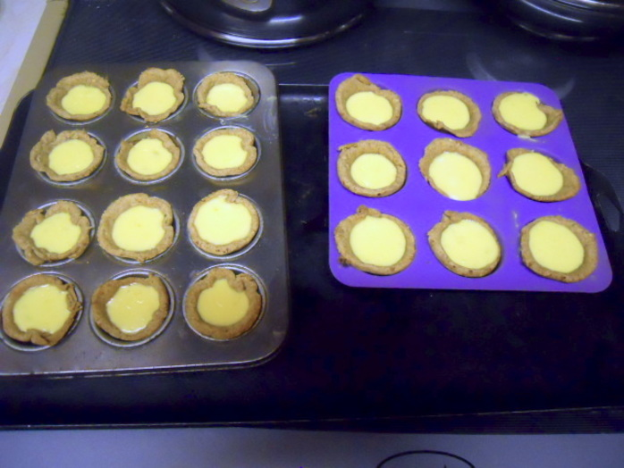 lemon and lime tarts, rub, margarine, flour, butter, pastry