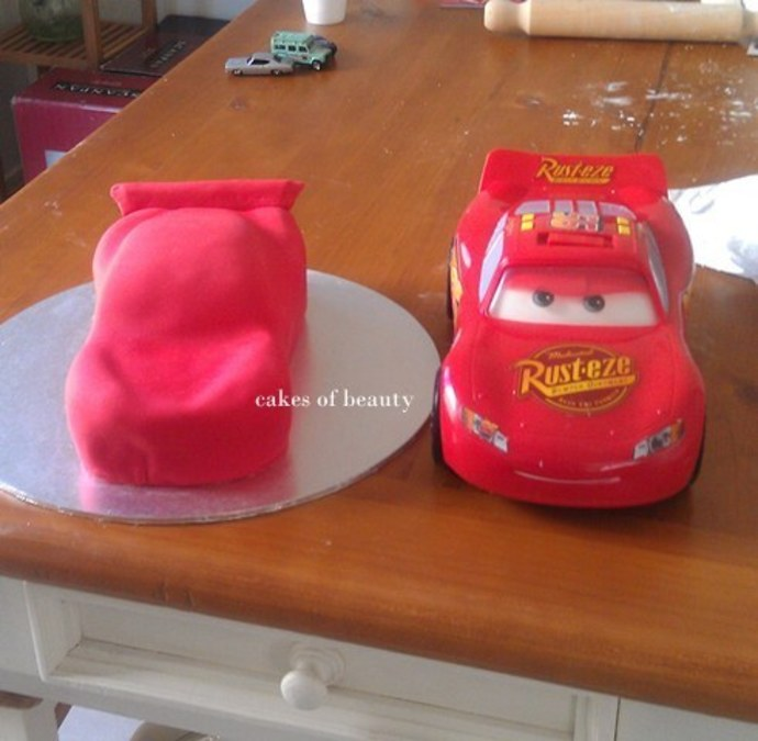 Lightning McQueen Car Cake Recipe RecipeYum