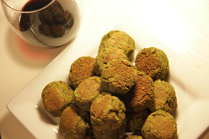 Herb and pistachio falafels, healthy, tasty