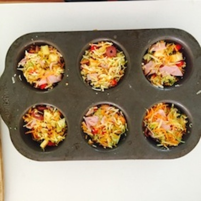 Lunchbox Frittatas ingredients