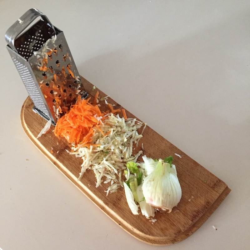 Making a fennel and carrot salad  - Roast Pork, Crackling and Apple Wedges