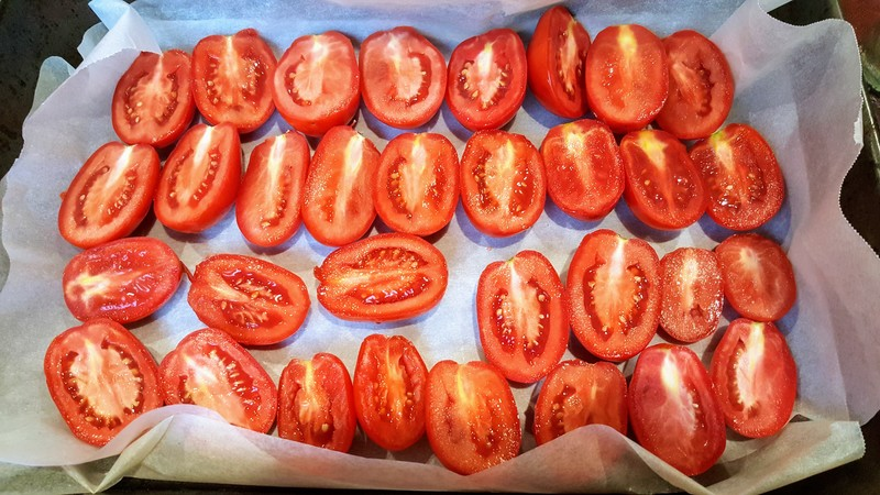 Marinated roma tomatoes