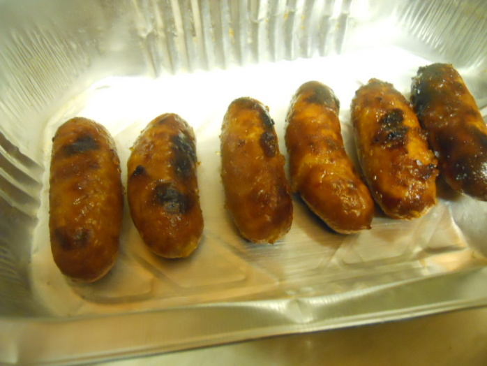 spicy marmalade sausages