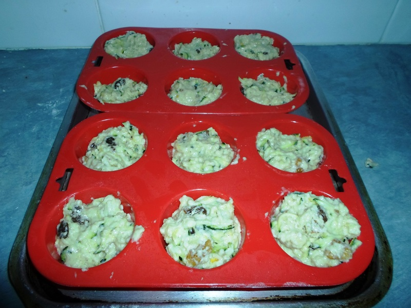 Muffin Mixture In Muffin Cups