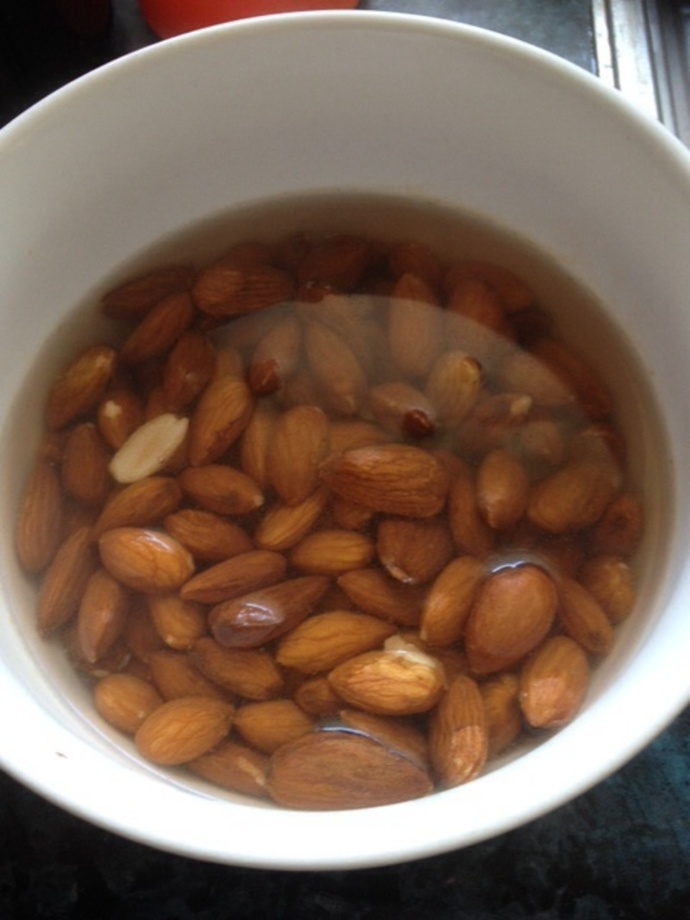 Nuts soaking