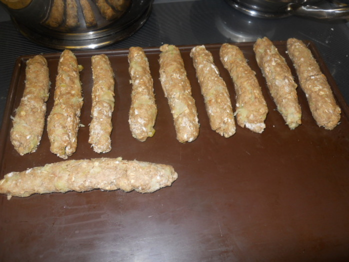 oaty apple sticks, dough
