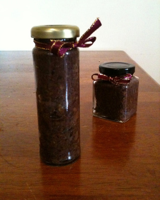 olive tapenade, capers
