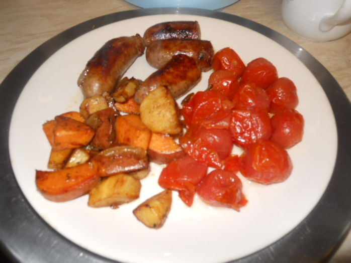 parsnip, sweet potato, onion, fry up