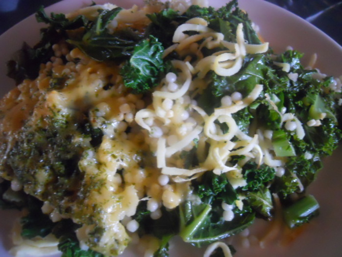 parsnip and kale couscous bake