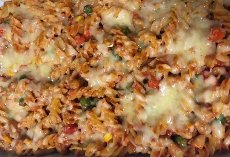 Pasta bake cooked  - Vegetable Pasta Bake with Cannellini Beans