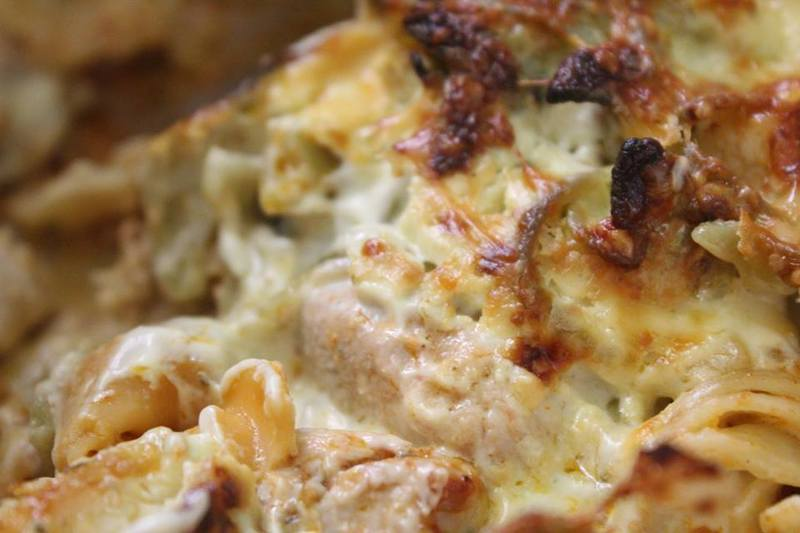 Chicken And Tomato Pesto Pasta Bake With Easy Bechamel