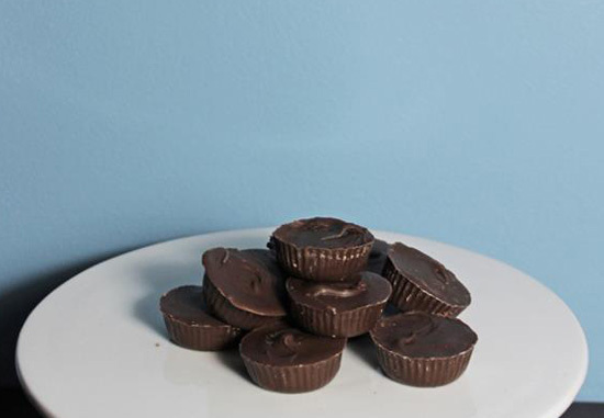 peanut butter cups, reese's pieces, peanut butter, chocolate, american candy  - Homemade Peanut Butter Cups