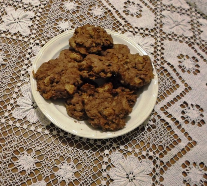 Plate Of Chocolate Cornflake Cookies