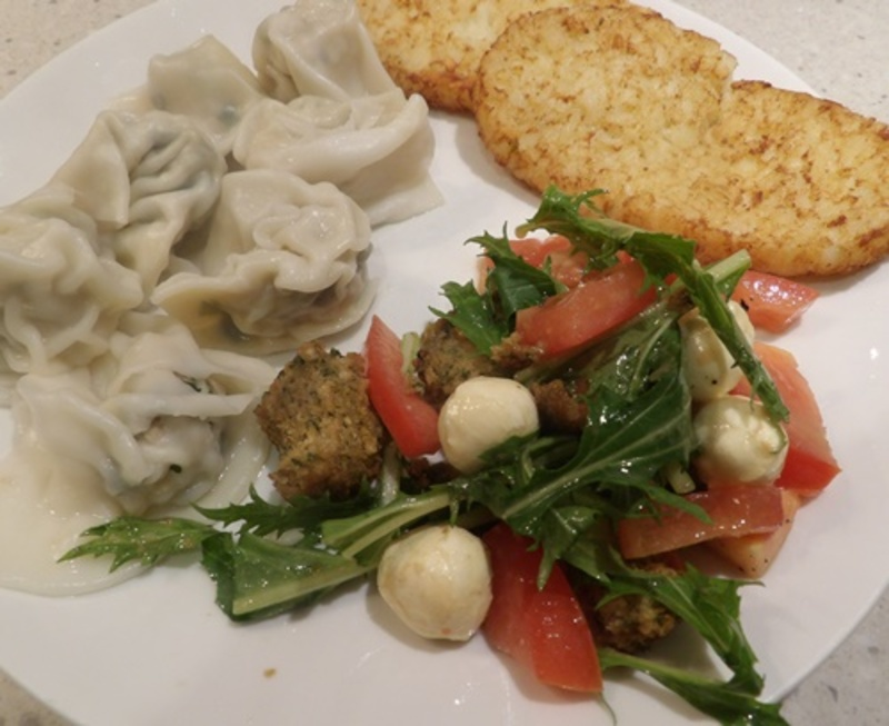 heated,leftovers  - Bocconcini and Tomato Salad with Leftovers