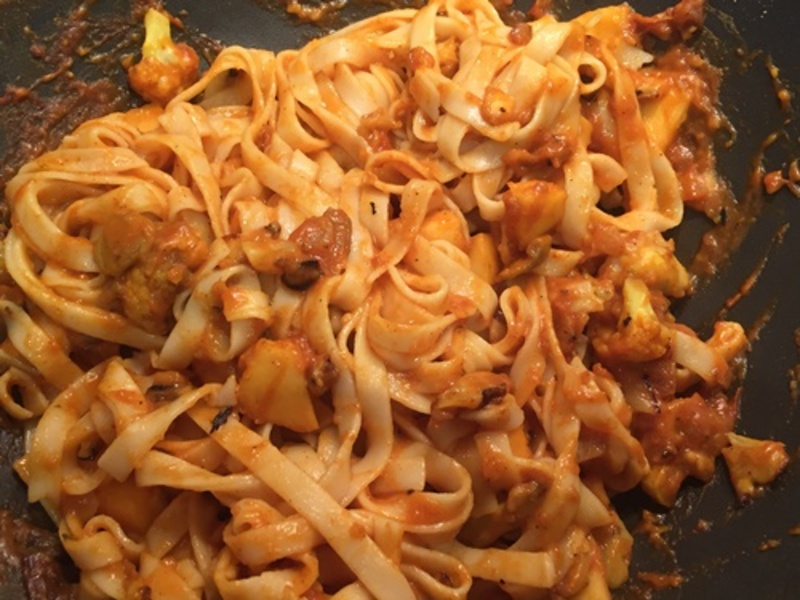 plated,curried,egg,noodles