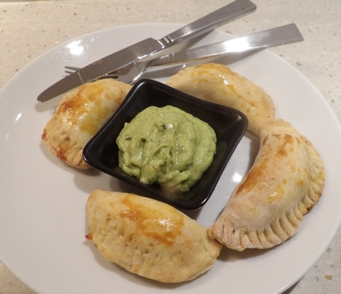 plated,empanadas,with,smoked,trout
