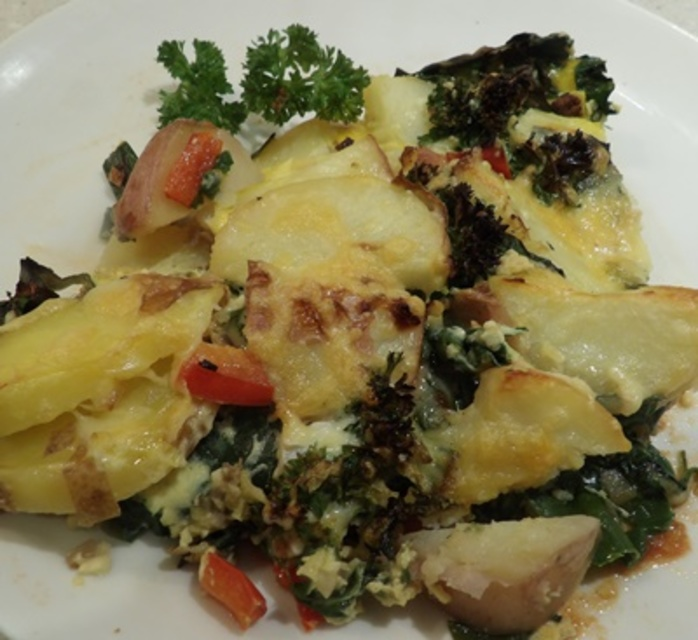 plated,potato,and,spinach,frittata