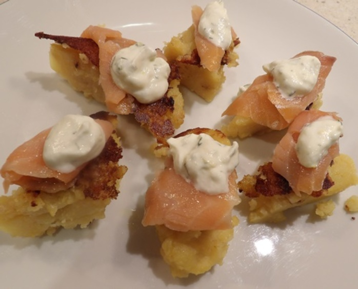 polenta,and,potato,triangles,with,smoked,salmon