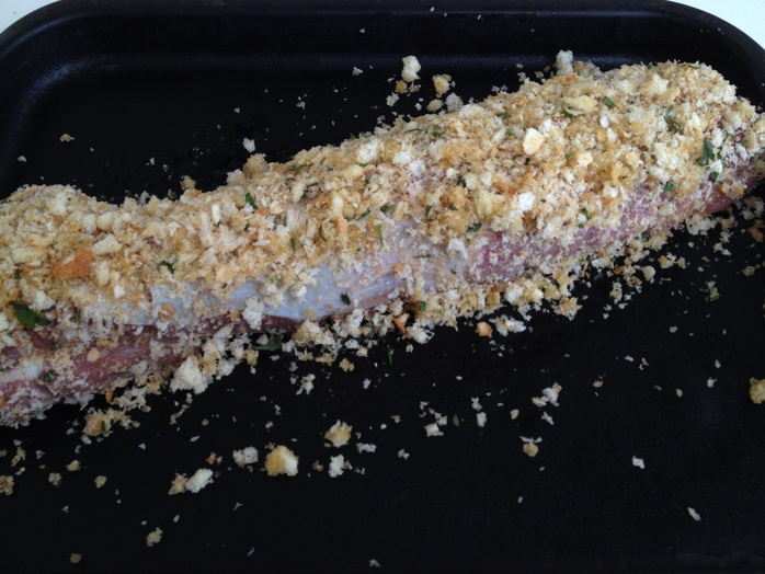 Pork, tenderloin, breadcrumb, oven, roast