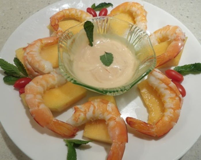 prawn,cocktail,with,rock,melon