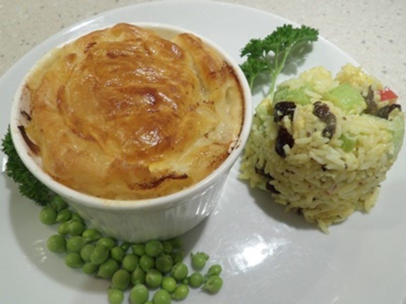 prawn,pot,pies,with,curried,rice,salad