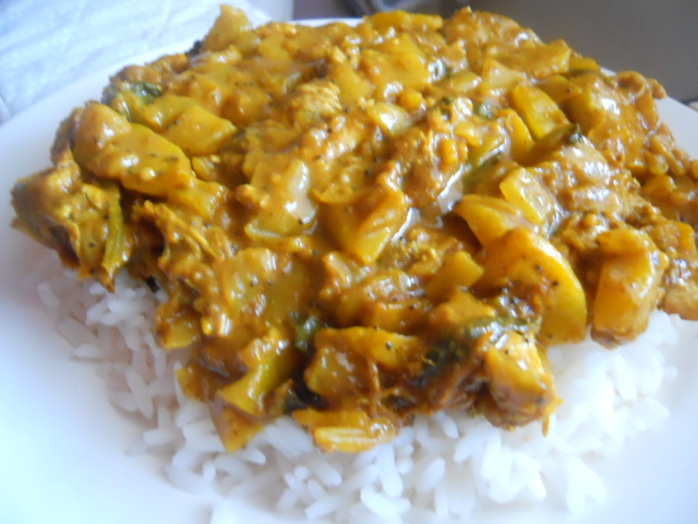 pulled pork, curry