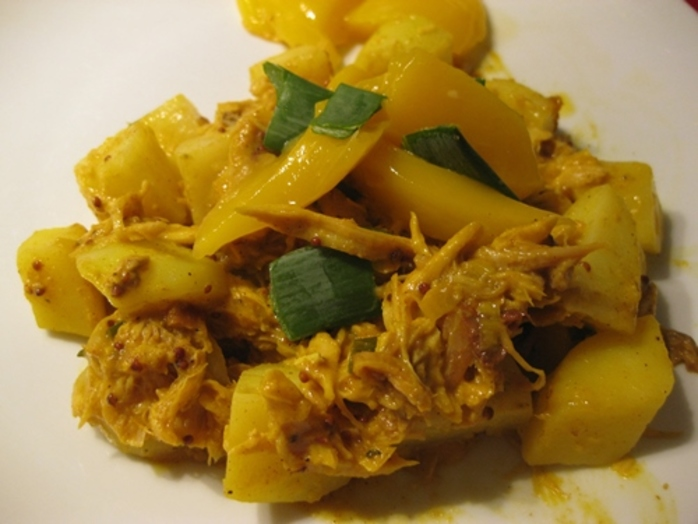 pulled,turkey,with,curried,mango,sauce