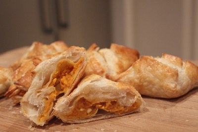pumpkin and feta parcels, pumpkin parcels, pumpkin and cinnamon ...