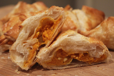 feta and walnut pumpkin and feta parcels pumpkin and feta puff pastry ...