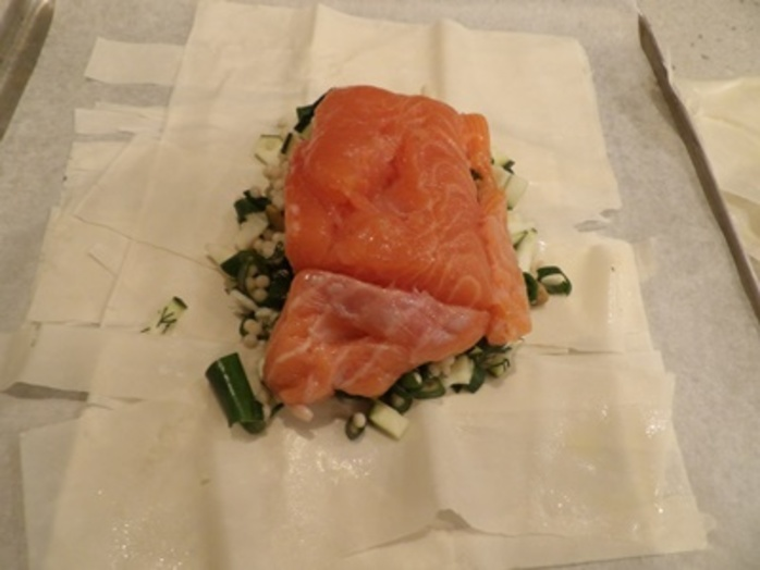 mixing,filling,for,salmon,parcels