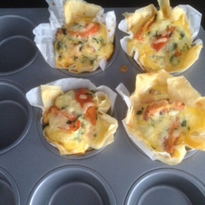 FILO pastry in the muffin tin