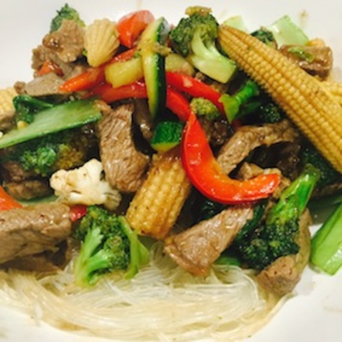 Quick Beef 5 Vegetable Stir Fry
