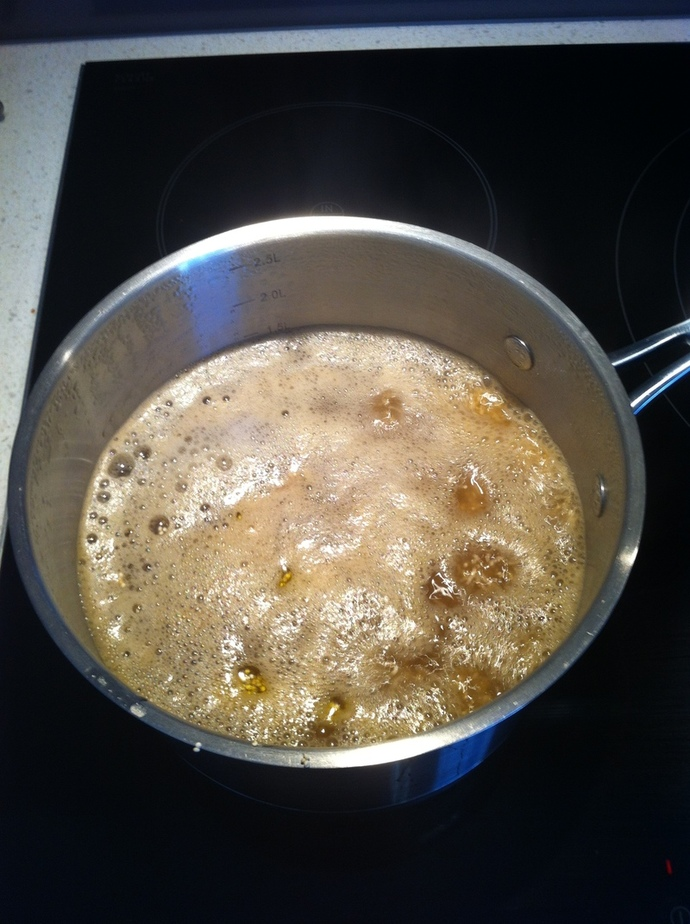 Quinoa boiling in vegetable stock