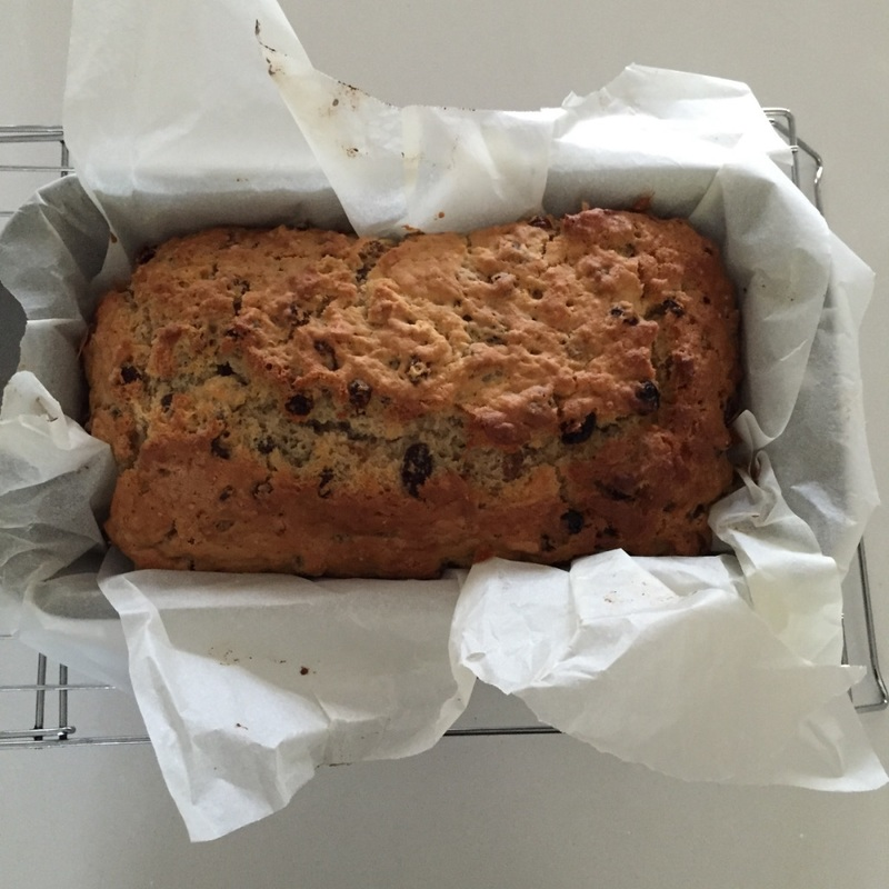 Pour on the olive oil  - Raisin Bread (Yeast Free)