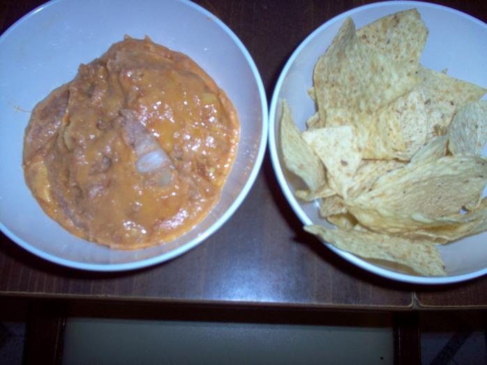 Refried Bean Dip with Tortillas