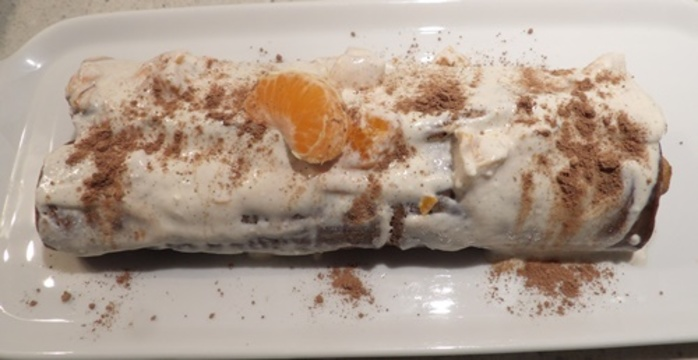 ricotta,chocolate,orange,log