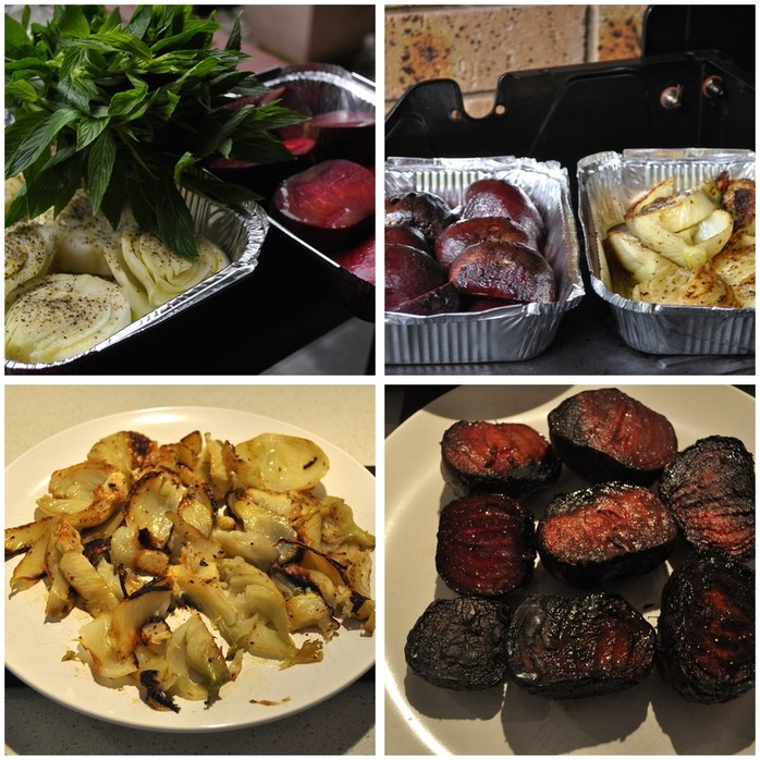 Roasted Beet and Fennel Salad Montage